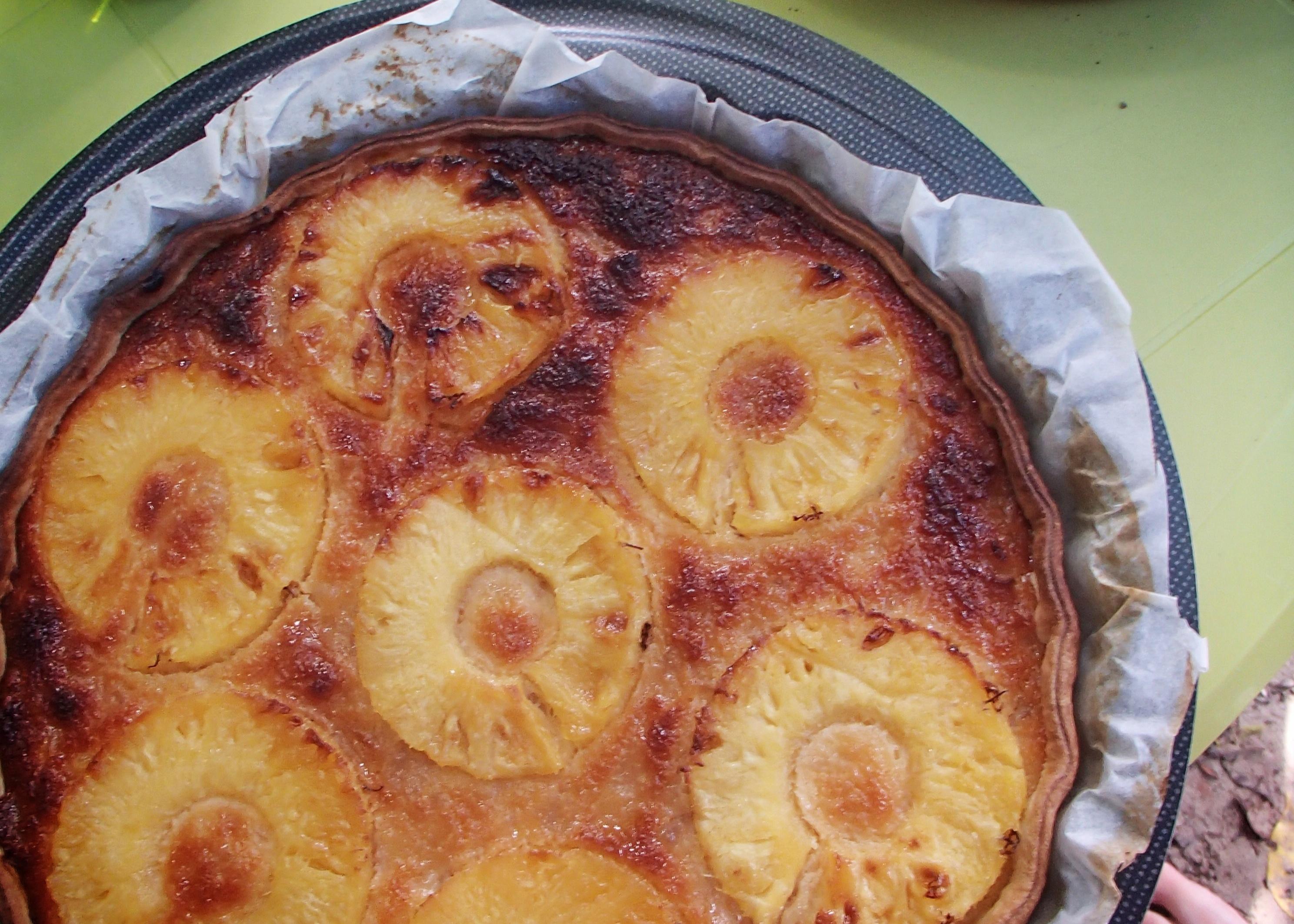 une tarte ananas coco