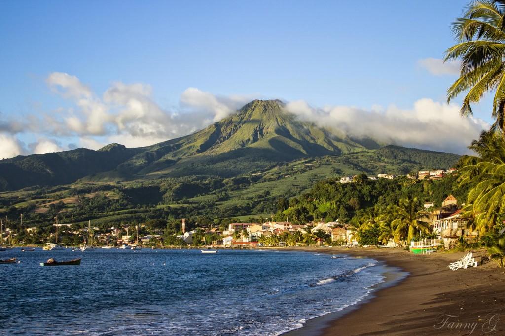La Montagne Pelée de la plage (c) Fanny G.